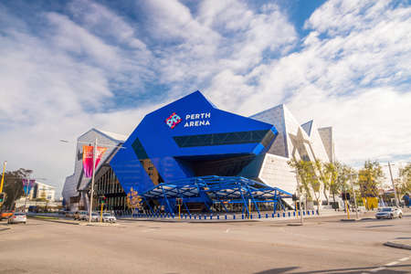 PERTH, AUSTRALIA - JULY 14 :  Perth Arena in downtown Perth Australia on July 14, 2017 It is an entertainment and sporting arena in the city centre of Perth, Western Australia Editorial