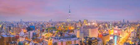 Panoramaaufnahme von Tokyo-Stadtskylinen in Japan