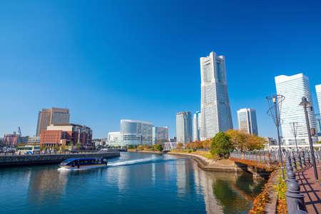 Cityscape of  Yokohama in Japan Stock Photo