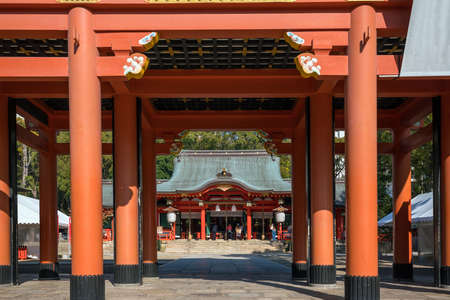 Ikuta-jinjya shrine It is a shrine in Kobe city Japan Stock Photo