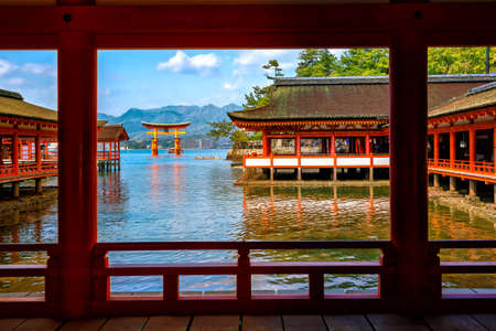 Miyajima Island,  The famous Floating Torii gate in Japan.