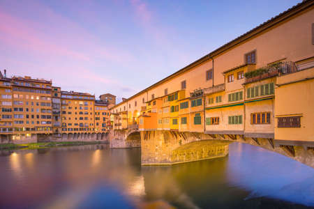 Ponte Vecchio over the Arno River in Florence, Tuscany, Italy.