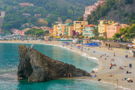 Monterosso al Mare, old seaside villages of the Cinque Terre on the Italian Riviera in Italy