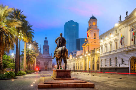 Plaza de las Armas square in Santiago, Chile 免版税图像