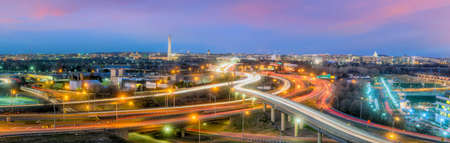 Washington, D.C. city skyline at twilight