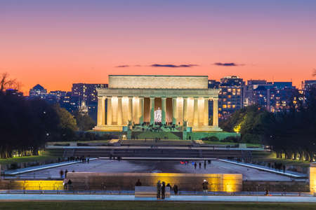 Abraham Lincoln Memorial in Washington, D.C. United States at twilight Stock Photo