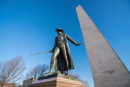 Bunker Hill Monument in Boston, Massachusettsin United States