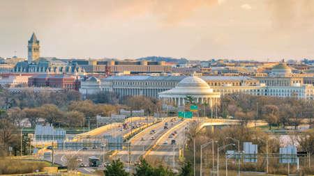 Washington, DC-Stadtskyline in der Dämmerung