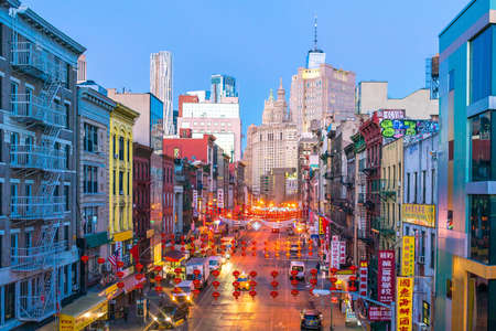 NEW YORK CITY - March 6: New York Chinatown of Manhattan on March 6, 2018 in New York City , United States Redactioneel
