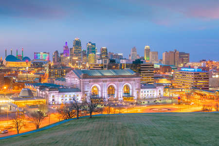 View of Kansas City skyline in Missouri, United State