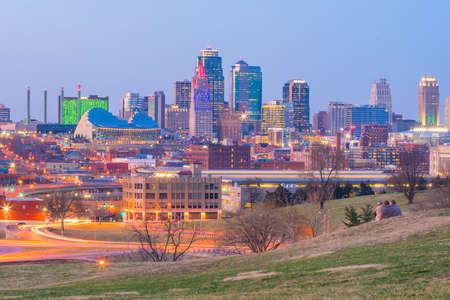View of Kansas City skyline in Missouri, United State Stock Photo - 100381658