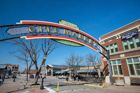 KANSAS CITY, KA - MARCH 22: Kansas City farmers market on March 22, 2018 It is a Major Tourist Attraction in downtown Kansas City