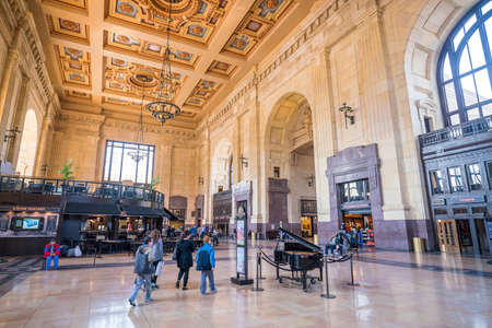 KANSAS CITY, KA - MARCH 22: Interior of Kansas City Union Station on March 22, 2018 It Opened in 1914 Editorial