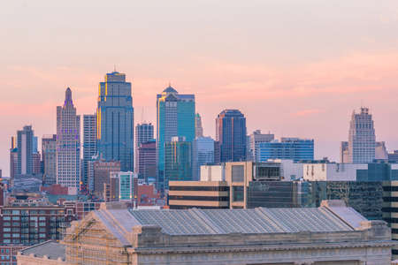 View of Kansas City skyline in Missouri, United State