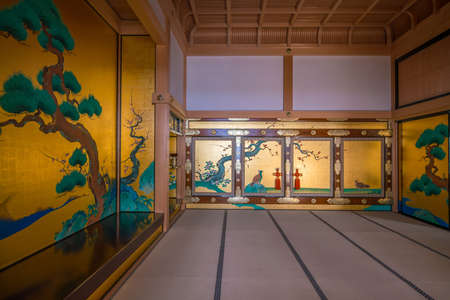 NAGOYA,  JAPAN - APRIL 19: Interior of Honmaru Palace of Nagoya Castle on April 19, 2018