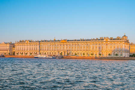 Winter Palace square in Saint Petersburg, Russia at sunset Stock Photo - 105180764