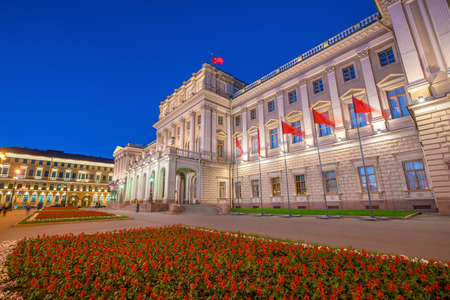 Mariinsky Palace in old town St. Petersburg Russia