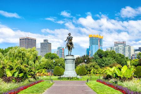 George Washington monument in Public Garden Boston Massachusetts USA