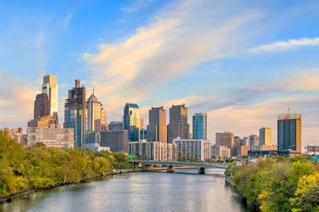 Beautiful Philadelphia skyline at night in USA Stock Photo - 108033273