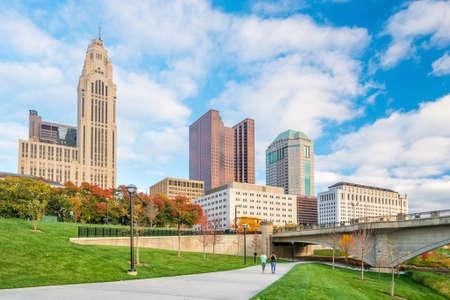 View of downtown Columbus Ohio Skyline in USA Stock Photo