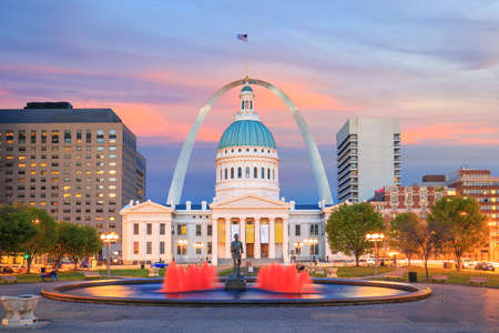 St. Louis downtown city skyline at twilight in USA Editorial