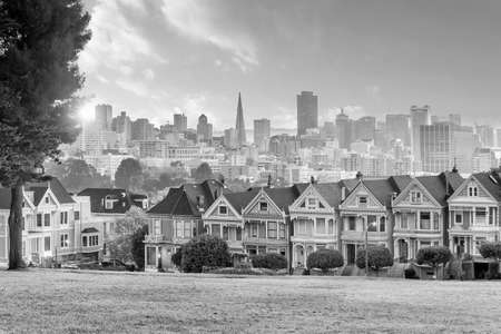 Famous Alamo Square in San Francisco, California USA