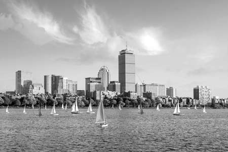 View of Boston Skyline in summer afternoon, USA
