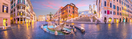 Piazza de spagna(Spanish Steps) in rome, italy at twilight