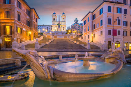 Piazza de spagna(Spanish Steps) in rome, italy at twilight Stock fotó