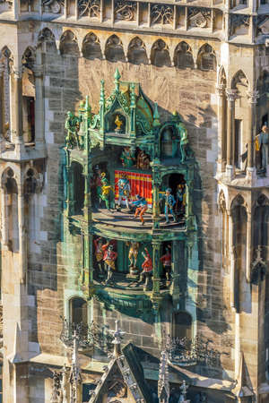 Marienplatz City Hall Tower Clock In Germany