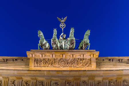 The Brandenburg Gate in Berlin at night, Germany