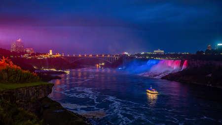 Niagara Falls waterfall view from Ontario, Canada