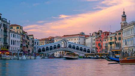Cityscape image of Venice, in Italy during sunrise with Gondolas Standard-Bild