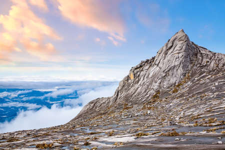 Nature landscape at the top of Mount Kinabalu in Sabah, Malaysia