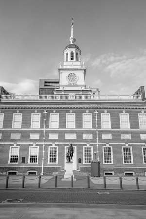 Independence Hall in Philadelphia, Pennsylvania USA 에디토리얼