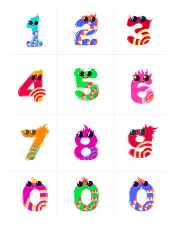Cute Numbers Set for Kids