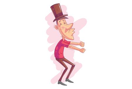 Man dance illustration