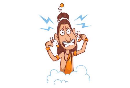 Vector narad muni  angry illustration