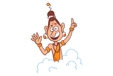 Vector illustration of narad muni