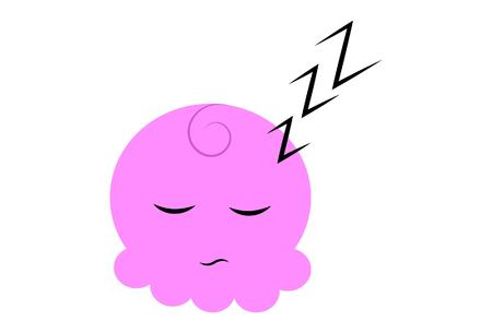 Vector Cartoon Cute Pink Face. 向量圖像