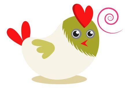 Vector cartoon illustration. Cute bird expression.