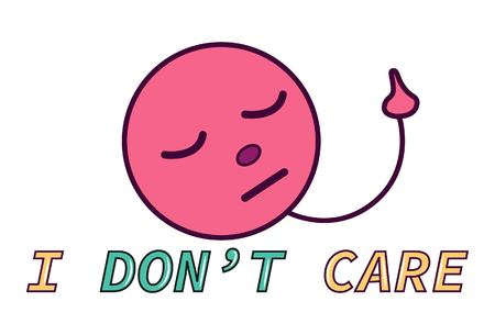 I don't care. Sticker for social media content.