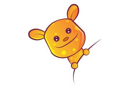 Vector cartoon illustration of teddy bear. Isolated on white background. Vektorové ilustrace