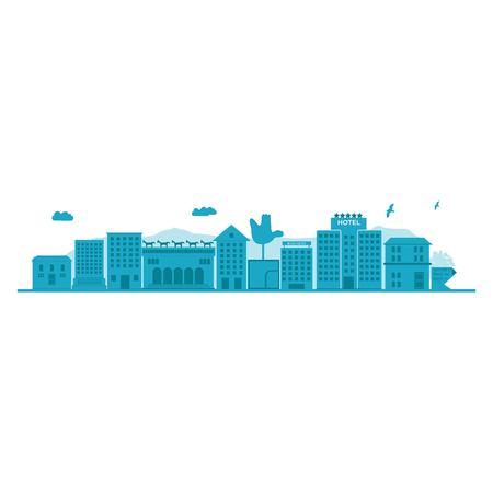 Chandigarh - The City Beautiful skyline. Detailed Vector Illustration. Illustration
