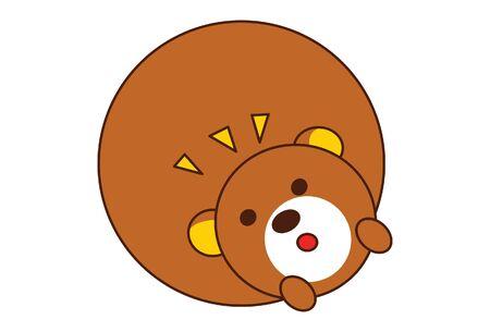 Vector cartoon illustration of cute teddy bear. Isolated on white background.