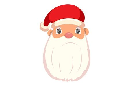 Vector cartoon illustration of Santa Claus face is angry. Isolated on white background. Standard-Bild - 135120612