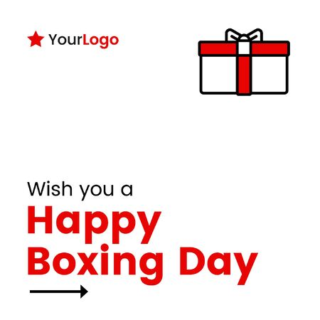 Vector illustration of happy boxing day banner design.