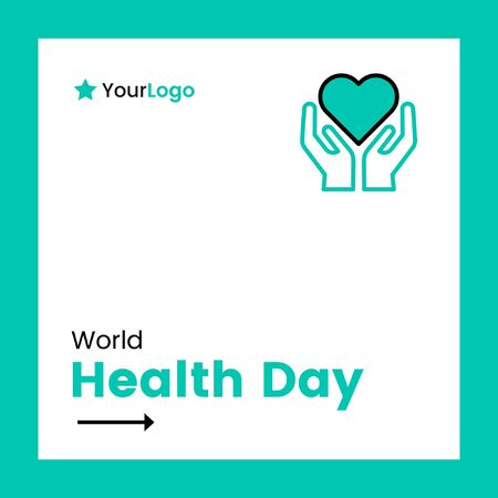 Vector illustration of world health day banner design. Stock Illustratie