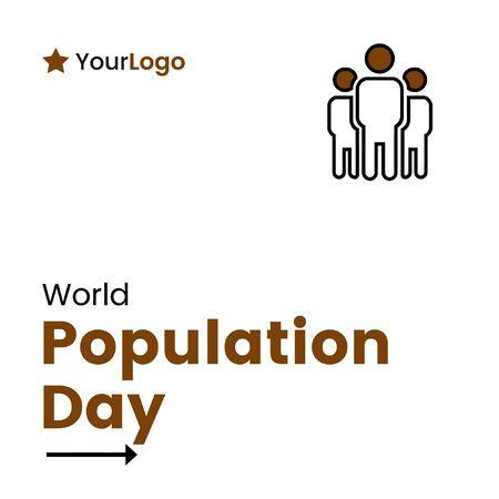Vector illustration of world population day banner design.