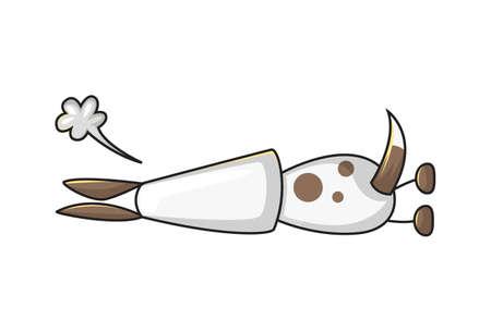 Vector cartoon illustration of an annoyed dog. Isolated on white background.